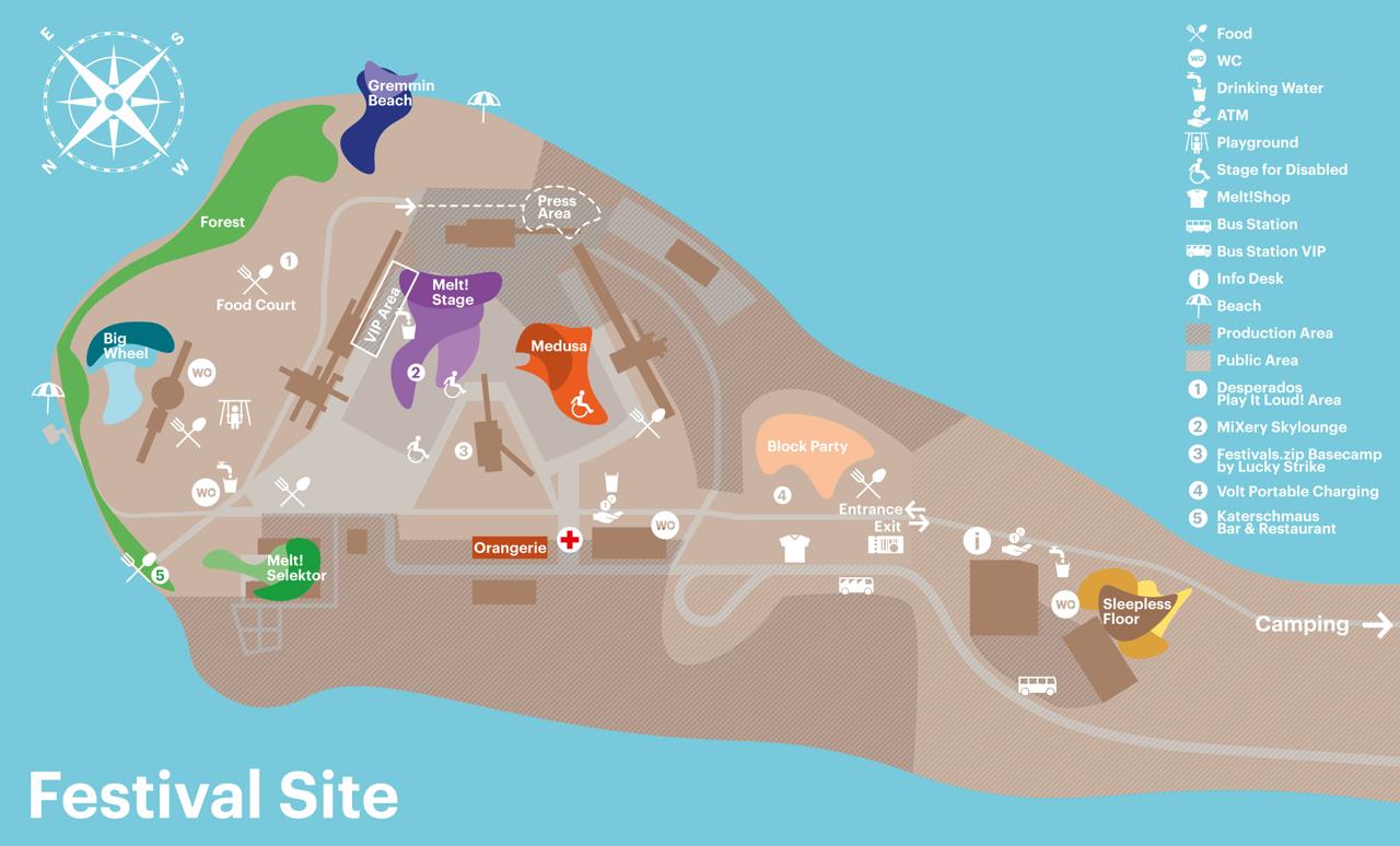 Melt festival 2016 map